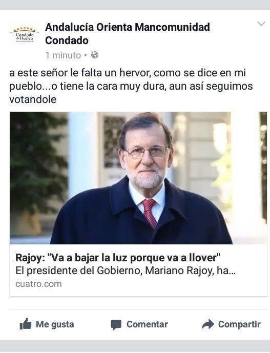 PP de Huelva exige responsabilidades por los insultos a Rajoy desde el perfil institucional de Mancomunidad del Condado
