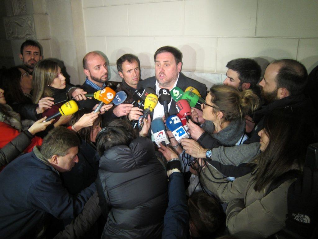 Junqueras tras el anuncio de la CUP sobre apoyar los Presupuestos: «Ahora, referéndum»