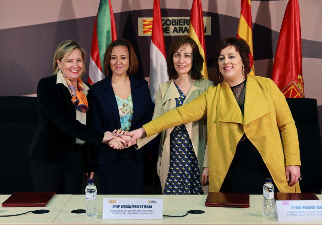 Aragón, Navarra, Guipúzcoa y Pirineos Atlánticos colaborarán en materia deportiva
