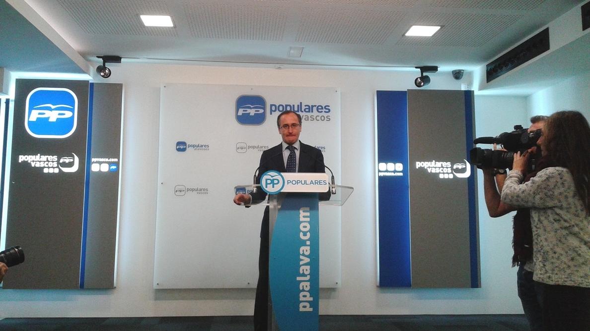 PP pide a Urkullu «un toque de atención» a la consejera de Seguridad por compararlos con el mundo de ETA
