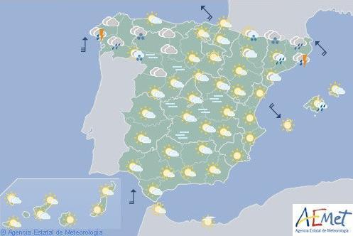 Remite hoy la lluvia, menos en Cataluña y Galicia
