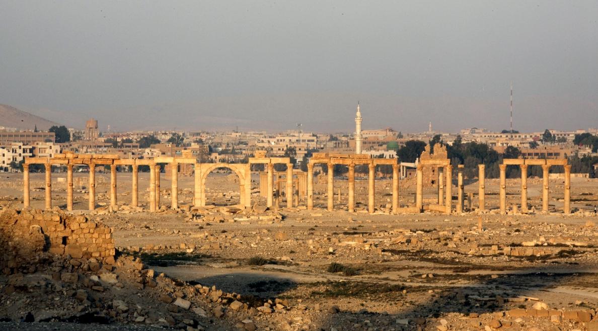 Rusia divulga un vídeo con nuevos destrozos en las ruinas de Palmira a cargo del ISIS