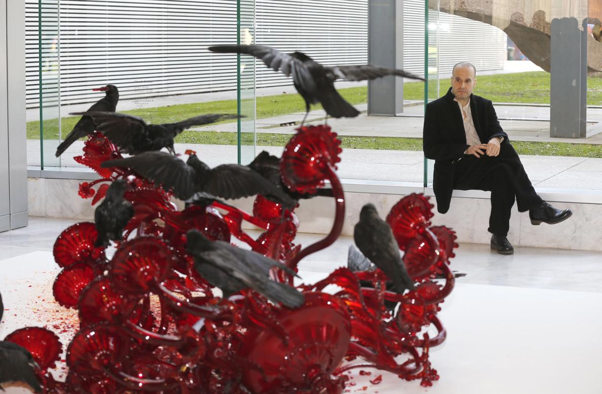 La belleza siniestra de «Carroña», de Javier Pérez, en el Bellas Artes de Bilbao