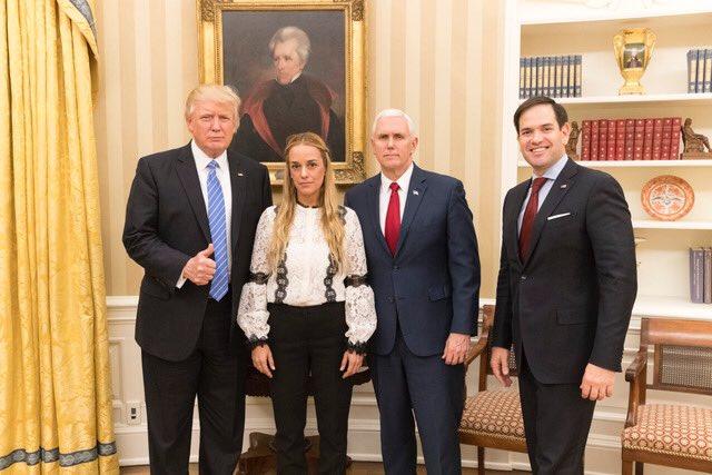 Trump pide la liberación de Leopoldo López tras recibir a Tintori en la Casa Blanca
