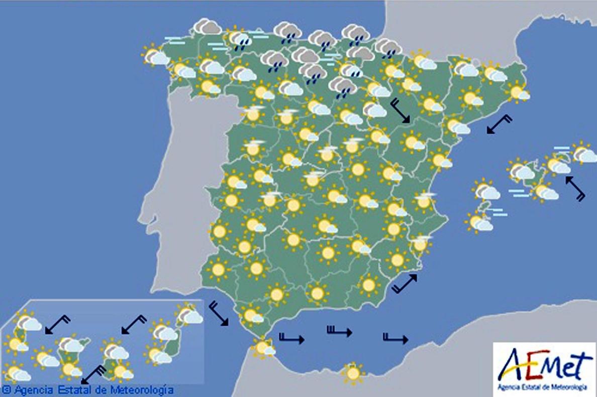 Chubascos y tormentas de Cantábrico a Pirineos y sistema Ibérico