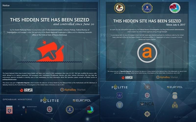 El FBI, la DEA y la Europol clausuran dos de los mercados negros más importantes de la »dark web»