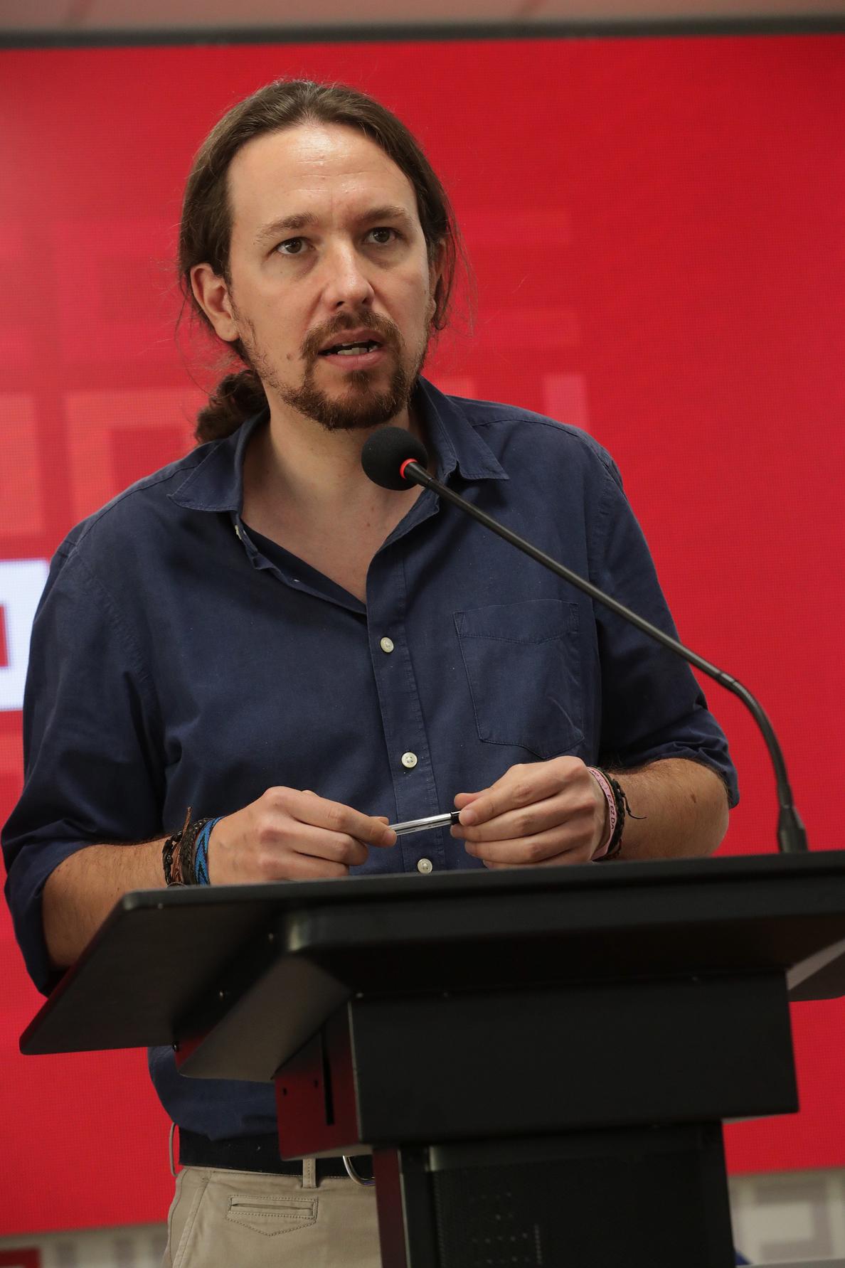 Iglesias: «No hay que descartar medidas represivas del Gobierno en Cataluña»