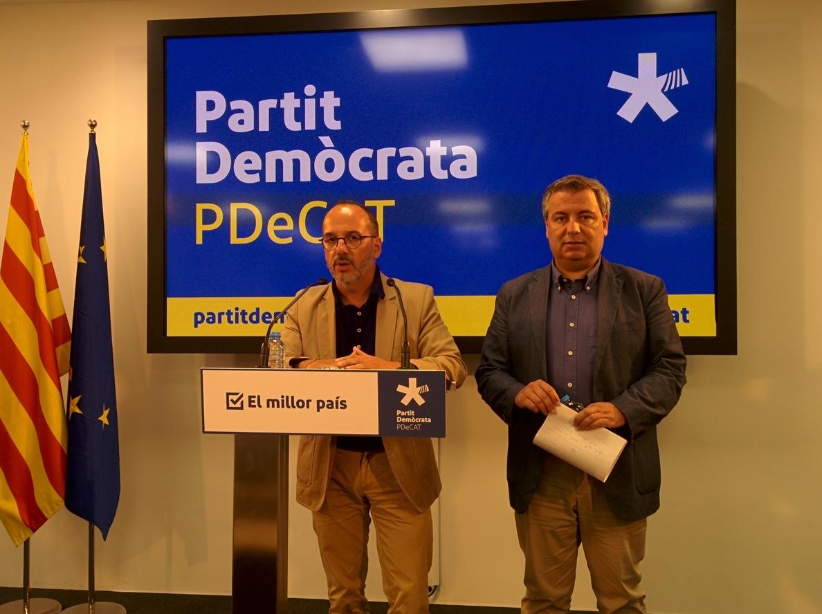 El PDeCAT dice que la mayoría de catalanes apoyaría a Puigdemont si fuera inhabilitado