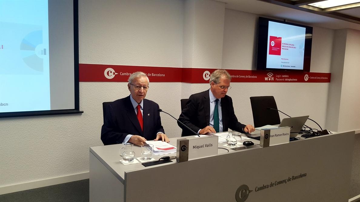 Cámara Comercio Barcelona dice que la economía catalana va muy bien, pero se puede alterar por el referéndum