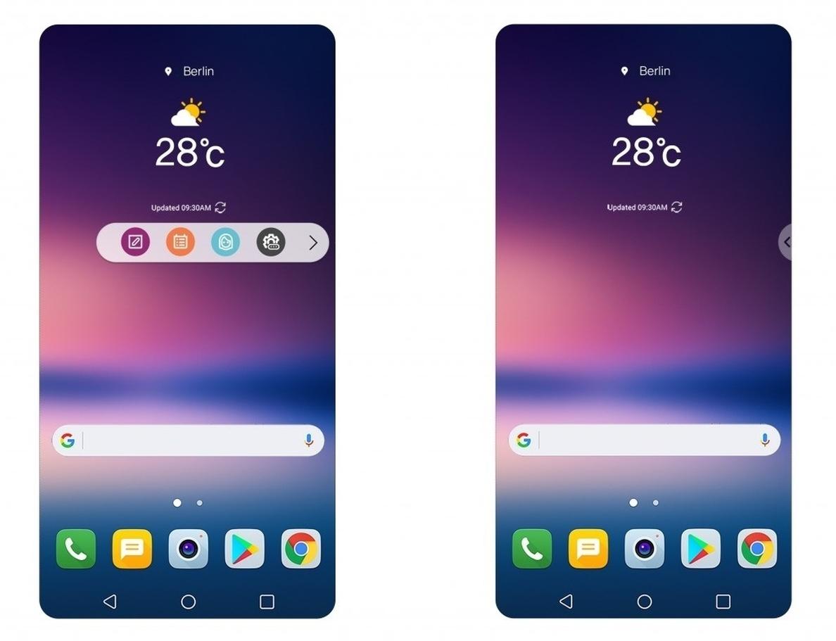 LG V30 tendrá una barra flotante de aplicaciones frecuentes con la capa de personalización UX 6.0+