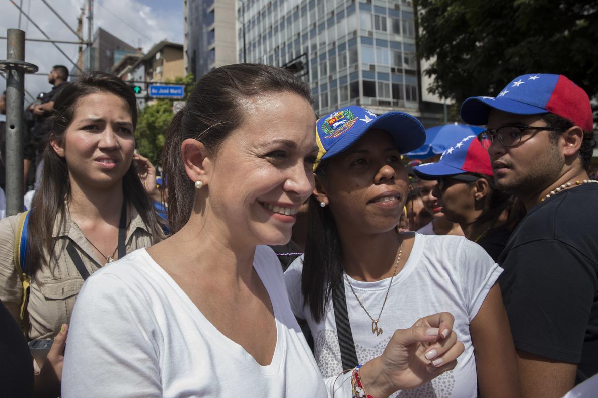 María Corina Machado: solo es negociable la salida de Maduro del poder