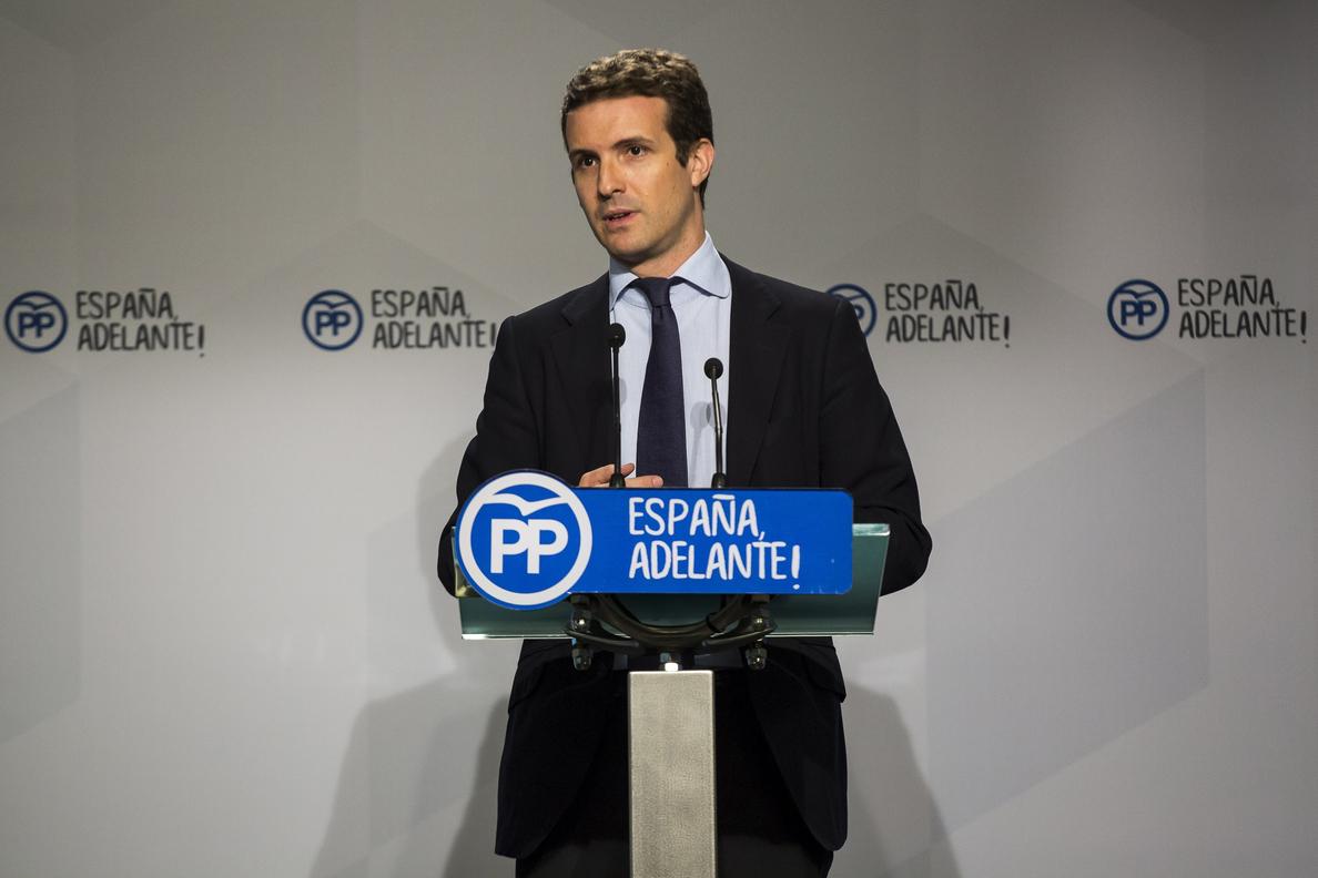 Casado: Habrá respuesta firme y proporcional si se vulnera ley en Cataluña