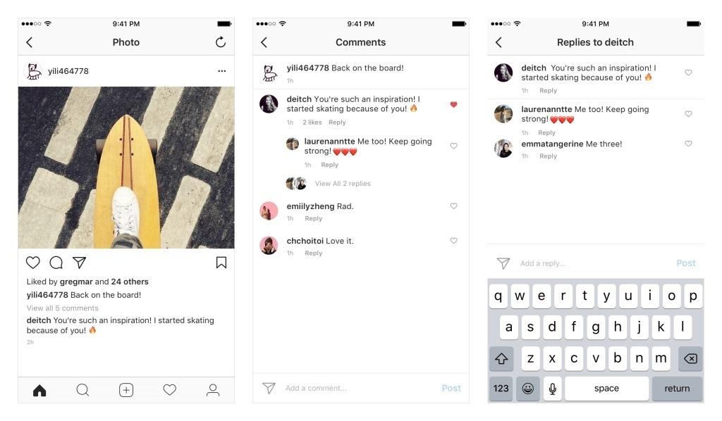 Intagram incorporará hilos de comentarios y respuestas en las publicaciones