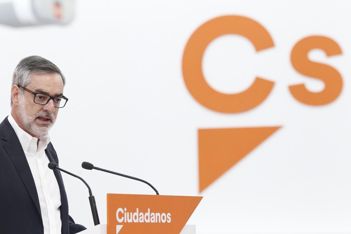 Ciudadanos recomienda al Gobierno y al PP que no polemicen sobre los mecanismos legales contra el referéndum catalán