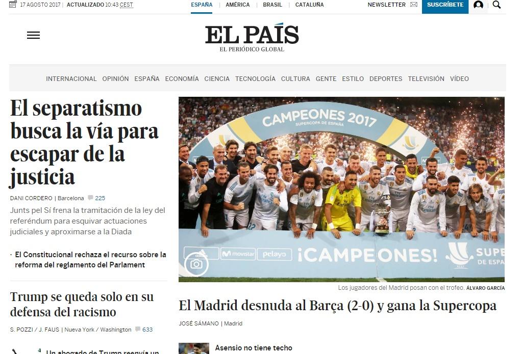La web del diario español El País, desbloqueada en China tras años de bloqueo