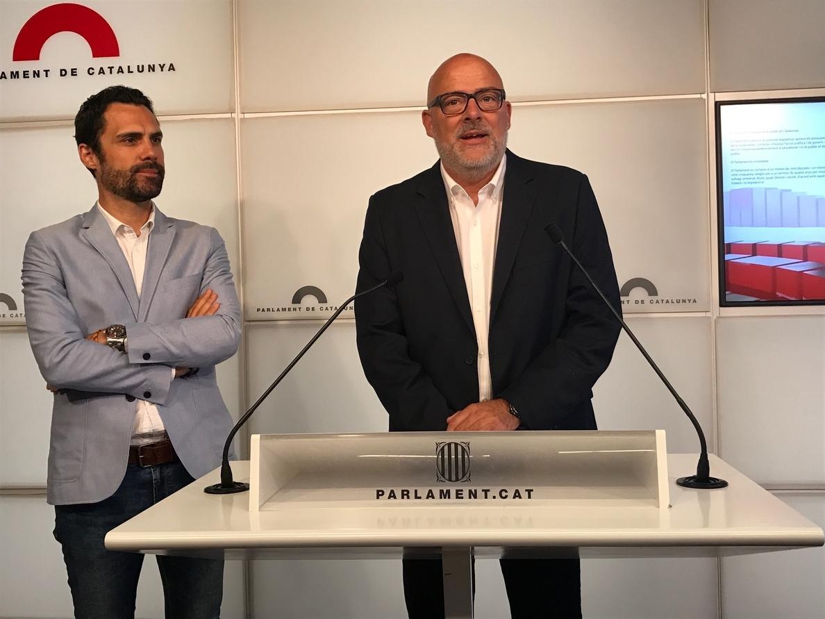JxSí anuncia que tramitarán «en breve» la ley del referéndum pero no descarta otra vía que garantice el 1-O