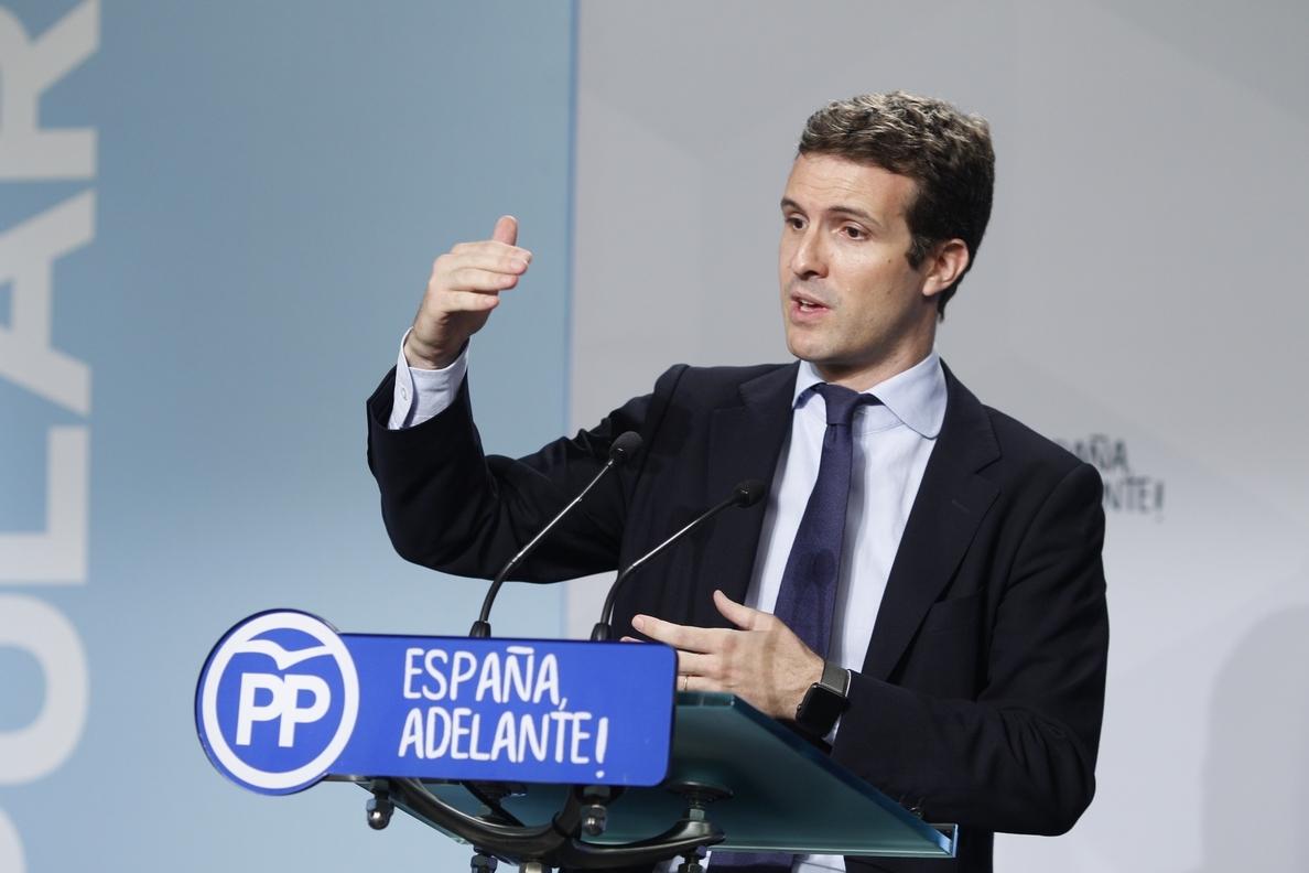 Pablo Casado (PP) sobre la limitación de mandatos: internamente no preocupa y creo que a los españoles tampoco