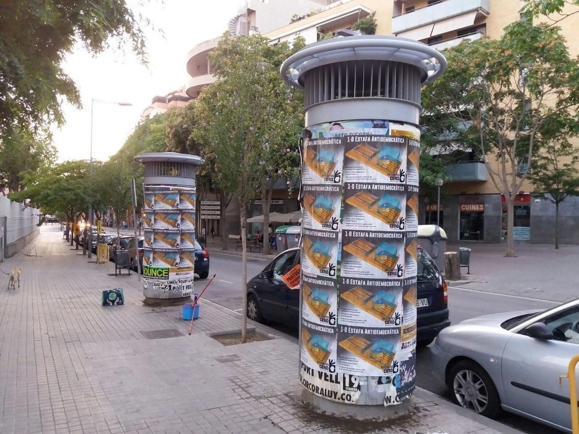 Recortes Cero lanza una campaña contra la «estafa antidemocrática» del referéndum del 1-O
