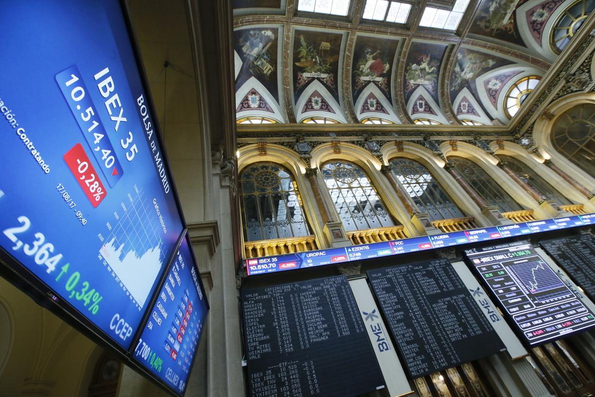 La Bolsa española abre con una caída del 0,99 %, hasta los 10.340 puntos