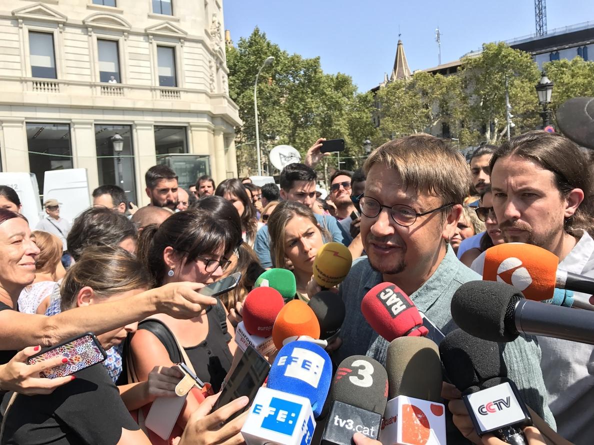 Domènech dice que Barcelona ya fue atacada por el fascismo en la Guerra Civil pero seguirá siendo «abierta»