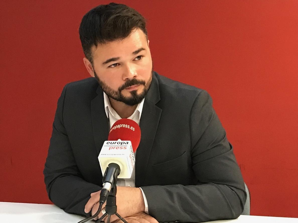 Rufián (ERC) rechaza que el Rey encabece la manifestación del sábado contra el terrorismo