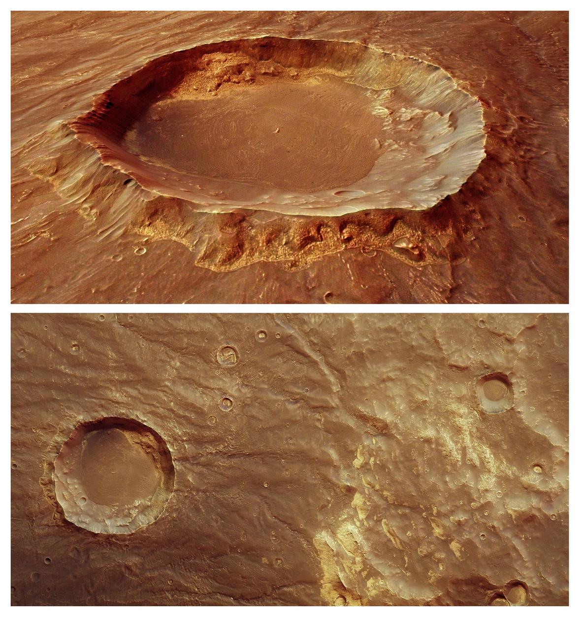 En Marte nieva, pero solo por la noche