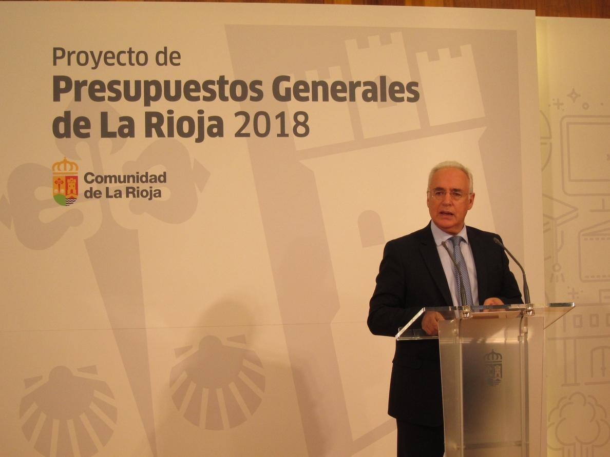 Ceniceros califica de «sensatos» pero «ambiciosos» presupuestos 2018 de La Rioja, que ascienden a 1.513 millones