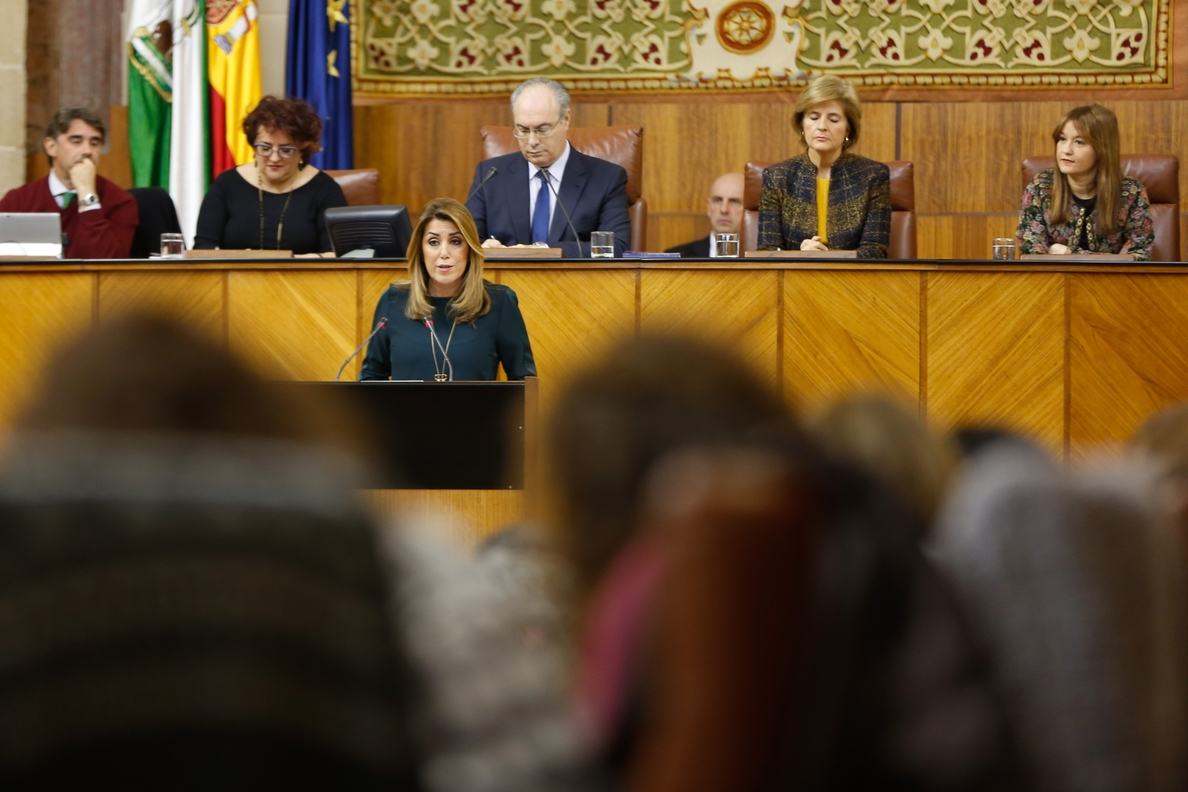 Susana Díaz: «Andalucía debe levantar en este momento histórico la bandera de la justicia y la igualdad»