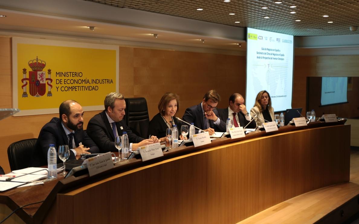 El 95% de empresas extranjeras prevé aumentar o mantener sus inversiones en España en el próximo año