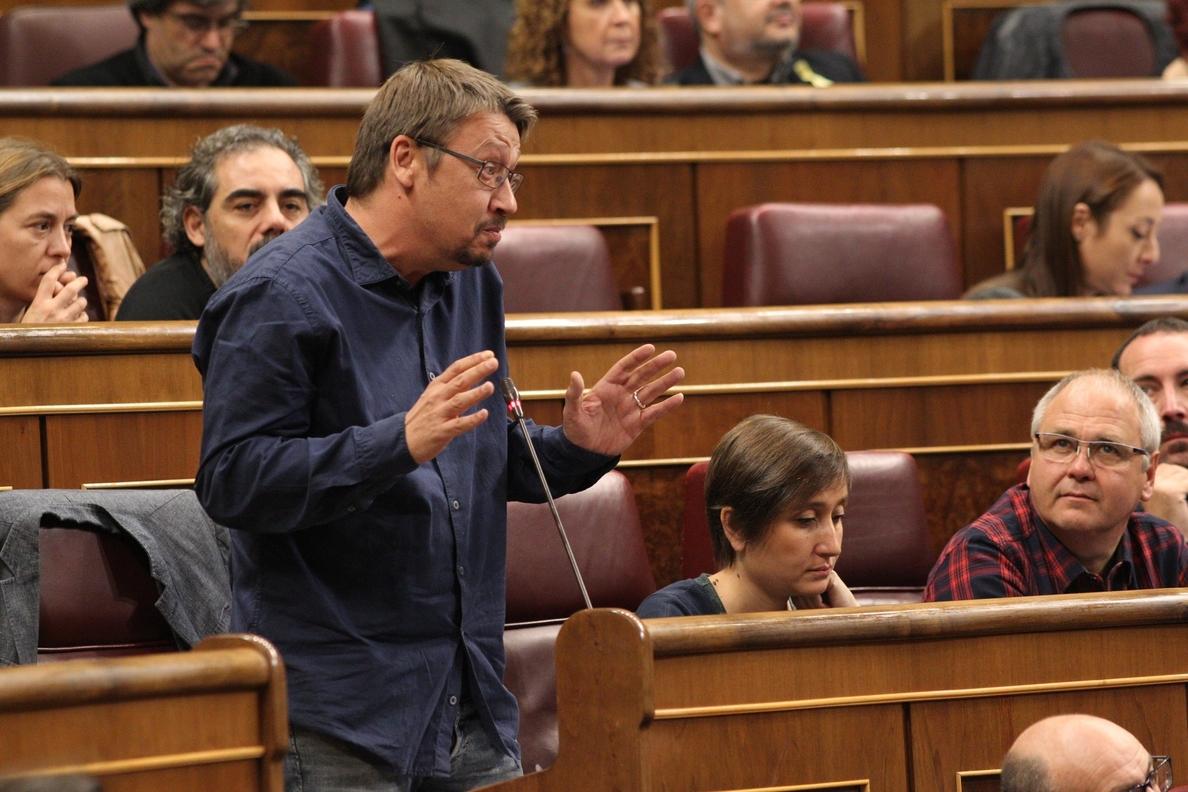 En Comú denuncia el «perjuicio» del 155 en Cataluña y pregunta al Gobierno si prevé levantar el «bloqueo» presupuestario