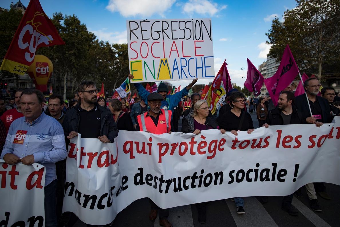 Francia vive la cuarta protesta contra la reforma laboral de Macron