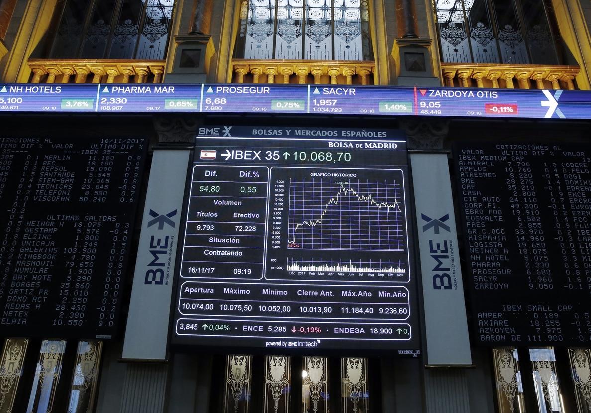 La Bolsa española abre con una caída del 0,15 por ciento, hasta los 10.078 puntos