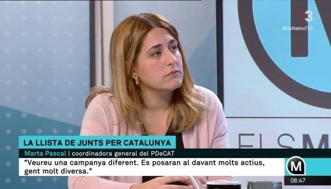 Pascal (PDeCAT) cree que Puigdemont debe repetir como presidente aunque no gane JuntsxCat