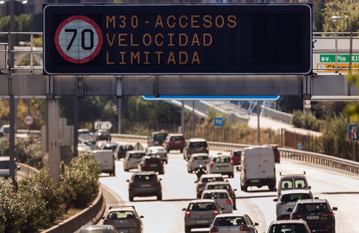 La velocidad en la M-30 de Madrid sigue limitada este viernes a 70 km/hora