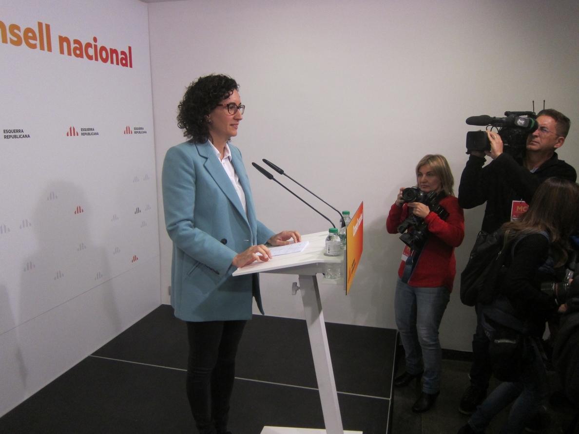 Rovira ve a Puigdemont como «el presidente legítimo» pero reclama un Govern ejecutivo