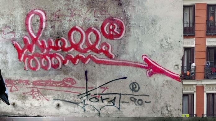 Ayuntamiento de Madrid rehabilita un graffiti de Muelle que será expuesto desde finales de mes en la Imprenta Municipal