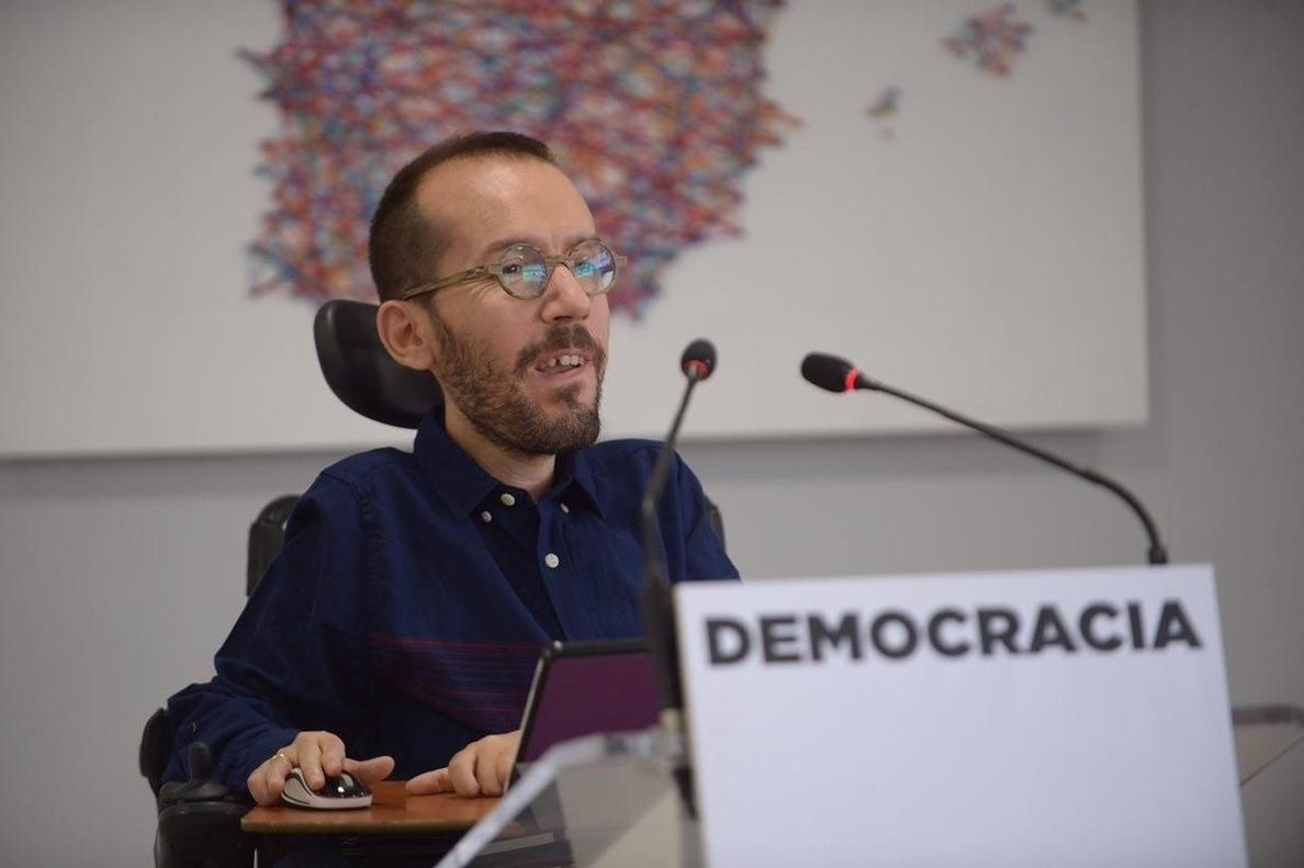 Echenique celebra la lista unitaria en las primarias de Madrid y llama a replicarla en otros territorios