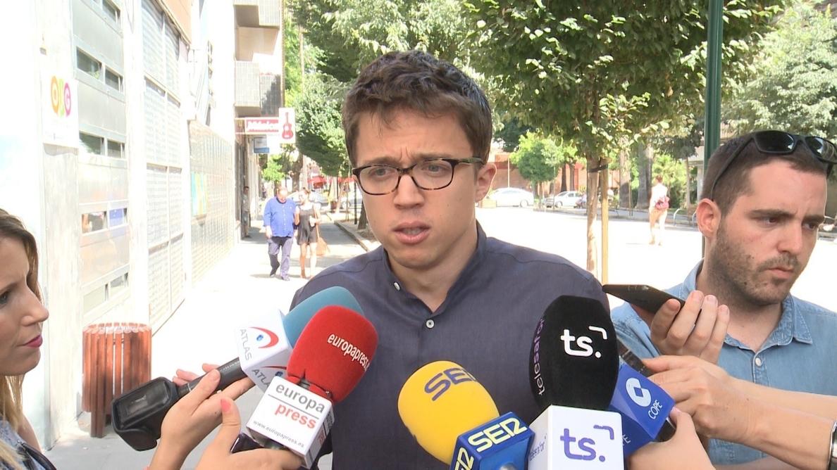 Errejón critica que la delegada del Gobierno en Madrid siga en su cargo mientras está siendo investigada