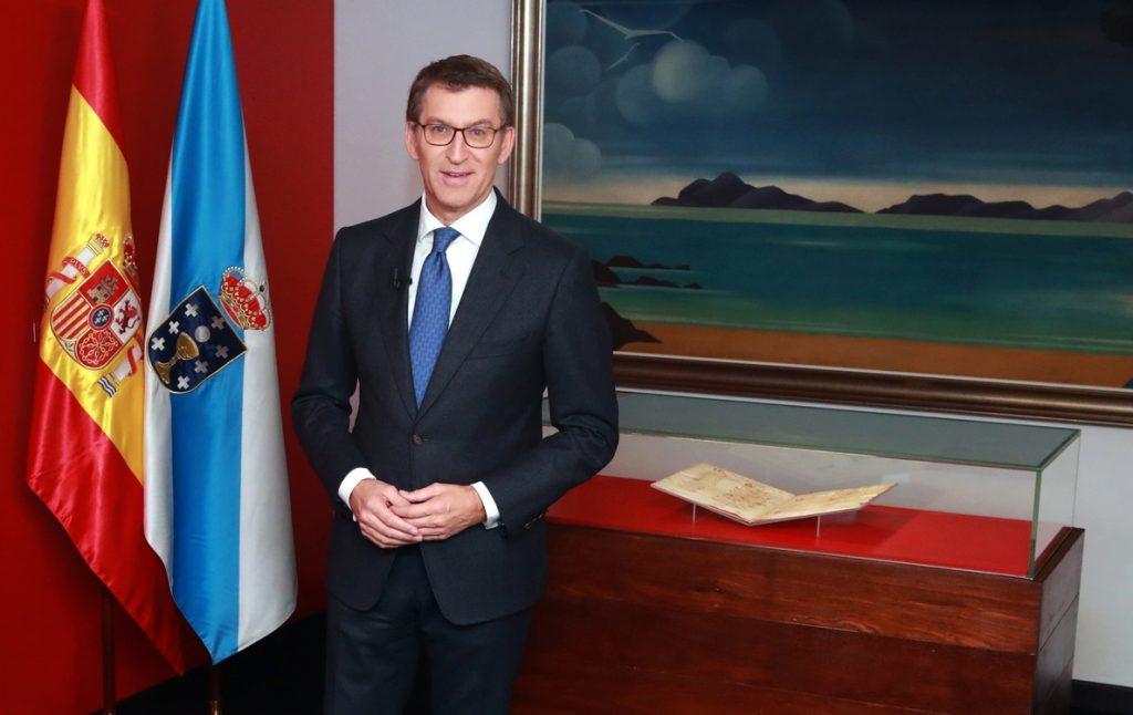 Feijóo reivindica el «modelo gallego de convivencia» y «unidad» en un discurso de Fin de Año pronunciado desde Vigo