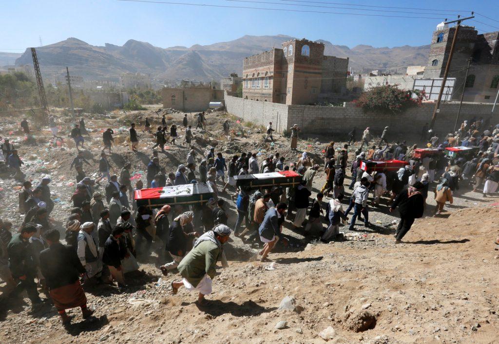 Mueren 46 personas en un bombardeos de la coalición árabe en 24 horas en el Yemen