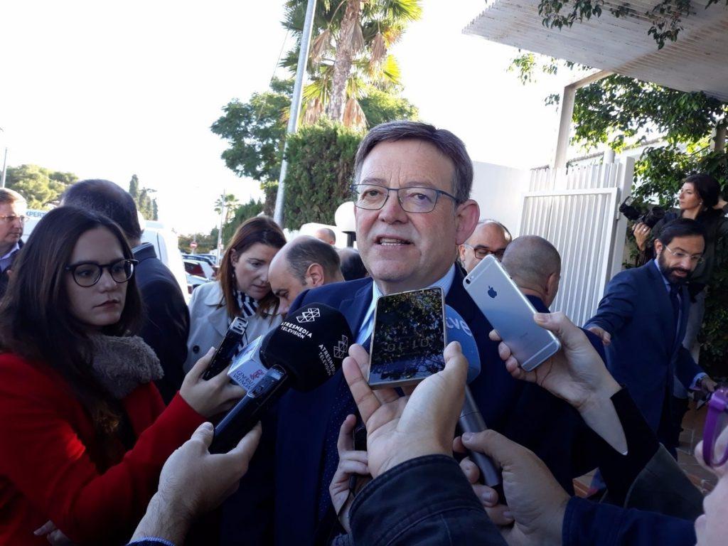 Ximo Puig convoca para el lunes la comisión de seguimiento sobre financiación para analizar la situación actual