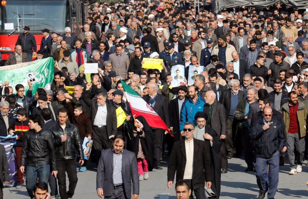 Nuevas marchas de apoyo al régimen iraní y contra la injerencia extranjera