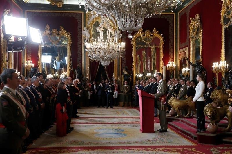El Rey presidirá este sábado la Pascua militar, la primera a la que acudirá Juan Carlos I desde su abdicación