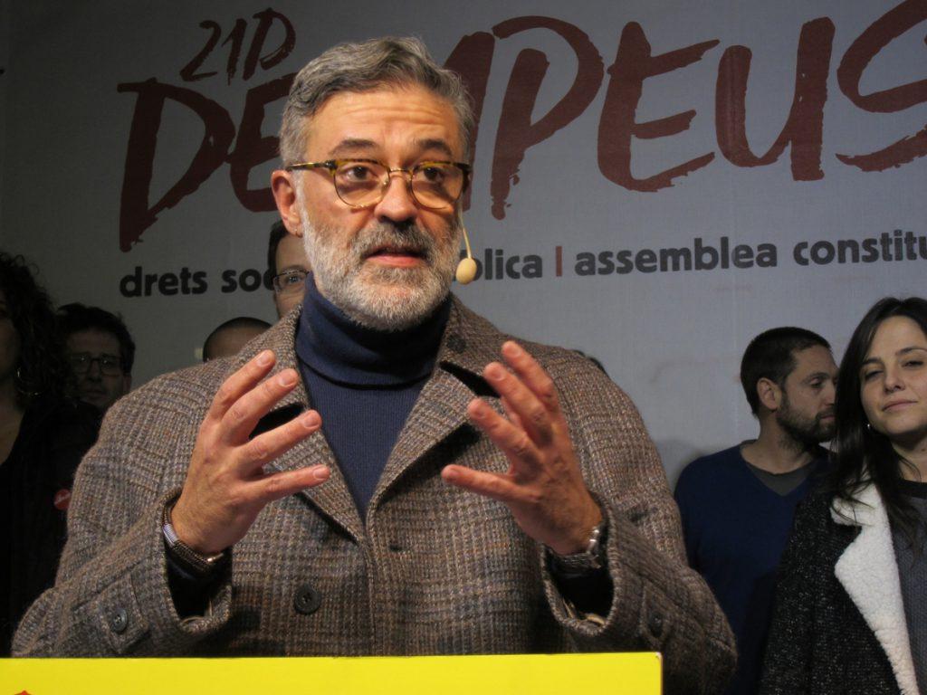 Riera (CUP) manifiesta su «dolor, rabia e indignación» por el presidio de Junqueras
