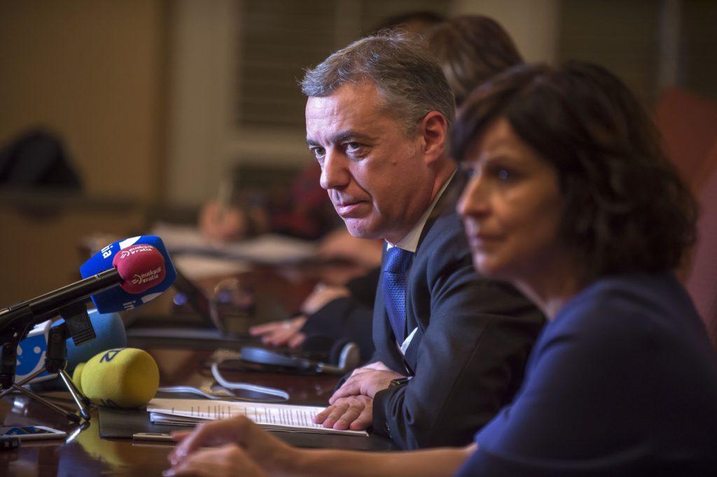 Urkullu «respeta» la decisión del Supremo sobre Junqueras pero defiende las «vías políticas» frente a las «penales»