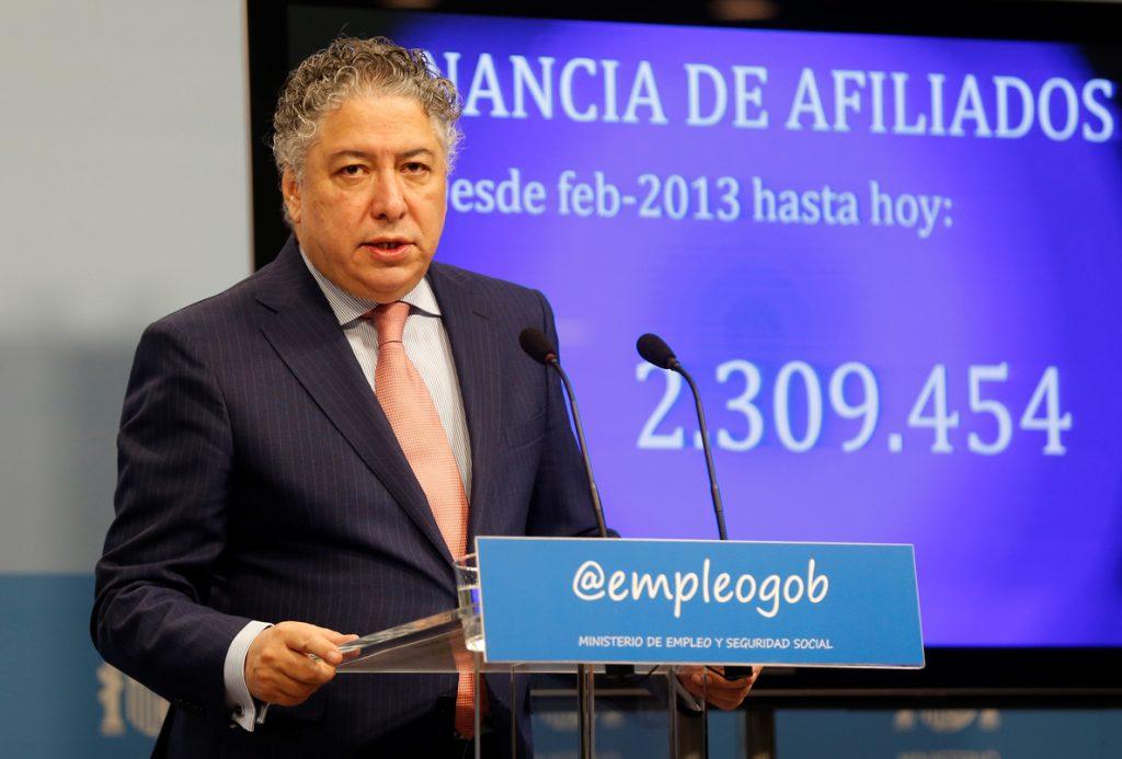 España cierra el año con 2,23 afiliados por pensionista, mínimo desde 1999