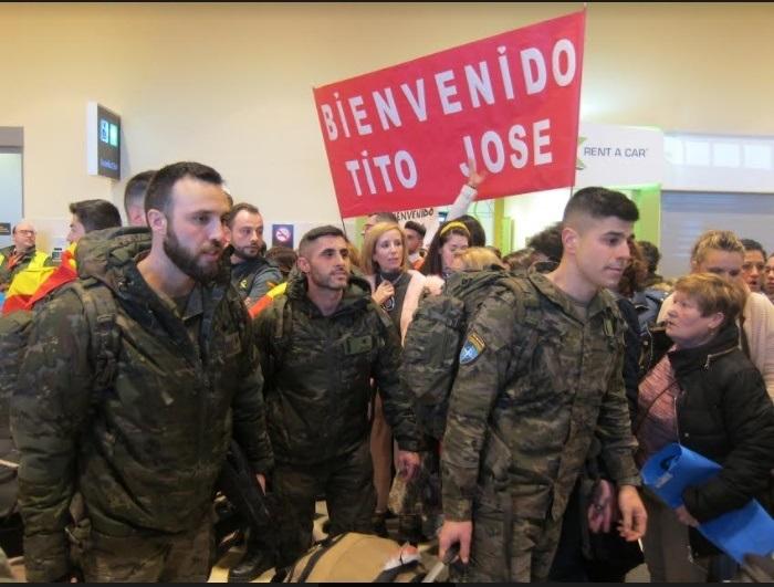Llegan a Badajoz los 170 primeros militares de la Brigada 'Extremadura' XI tras más de ocho meses de misión en Letonia