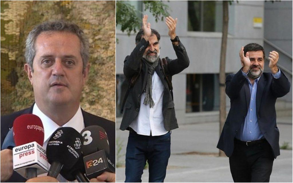Forn y los 'Jordis' comparecen mañana en el Supremo para dar su versión sobre el 'procés'