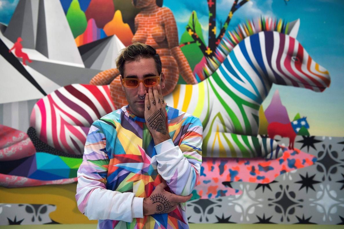 Okuda, un grafitero de museo: ¿el Banksy español?