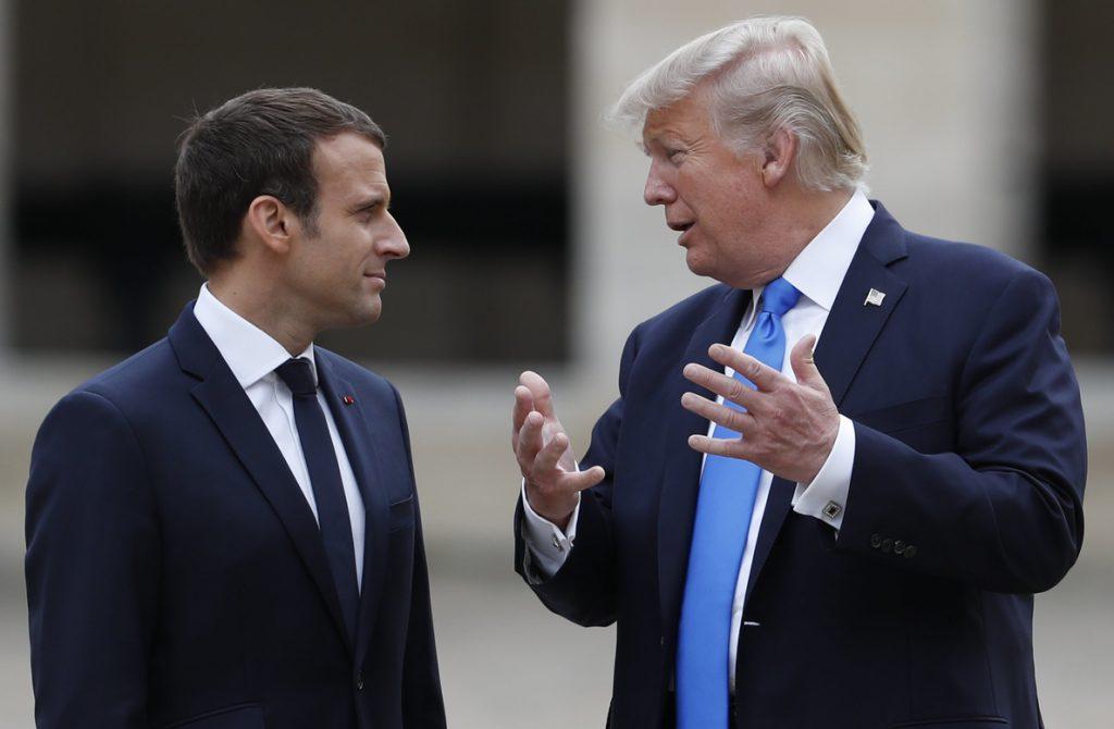 Trump habla con Macron de Corea del Norte e Irán y acuerdan reunirse en Davos